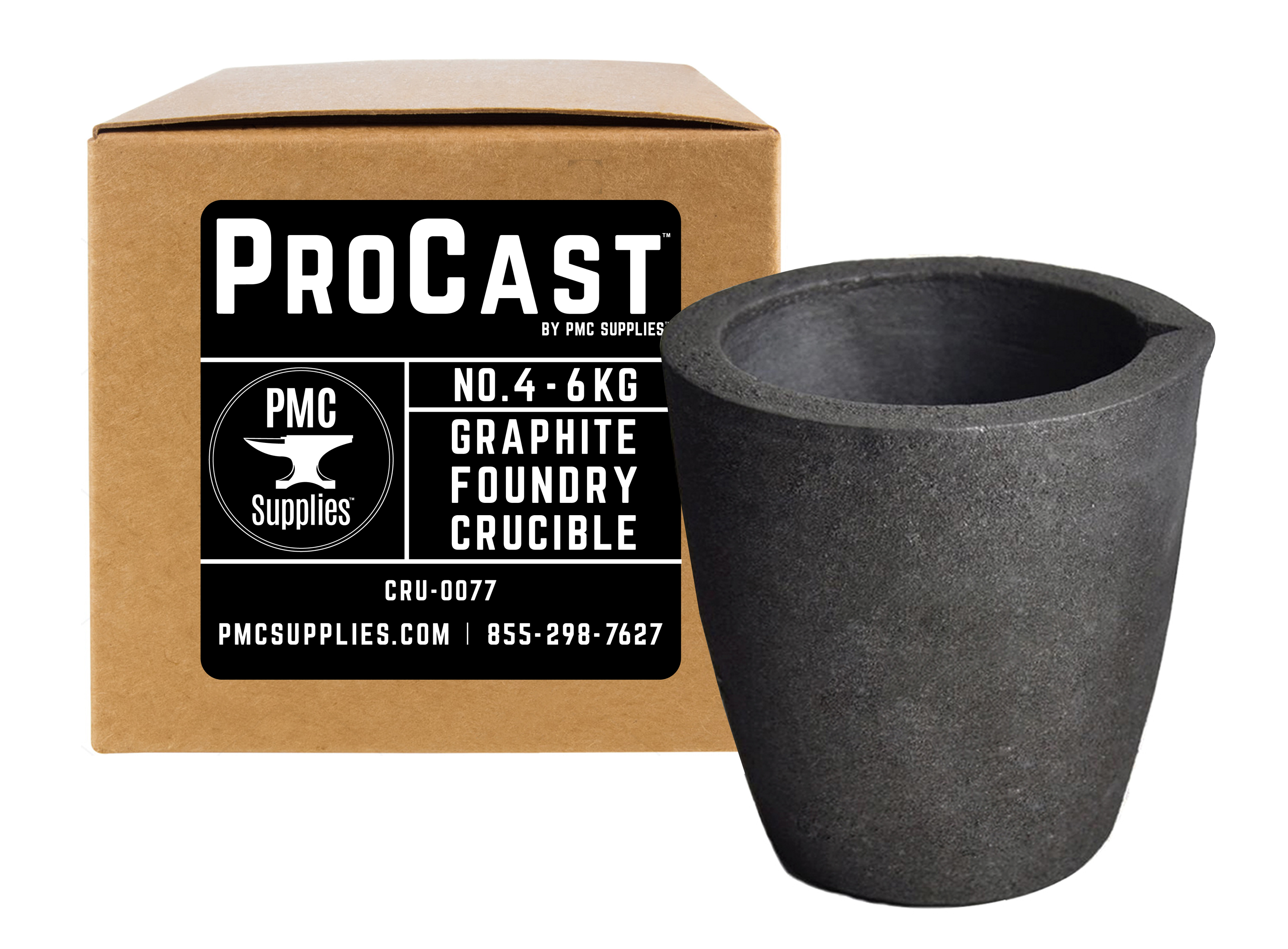 1 KG Safty Clay Graphite Foundry Crucible Melting Gold Silver Copper Aluminum