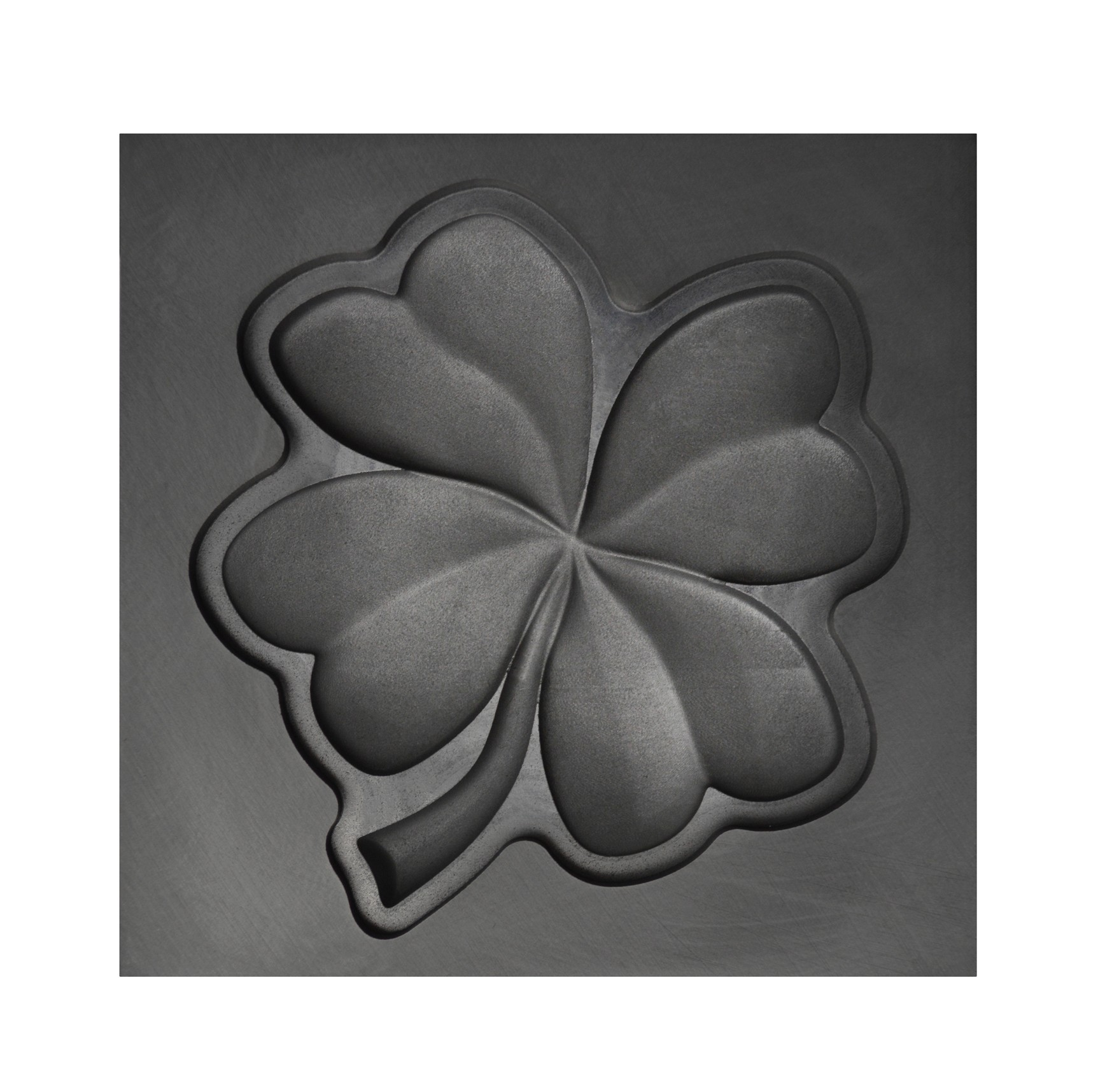 large four leaf clover 3d graphite ingot mold 3dmld 0039 pmc