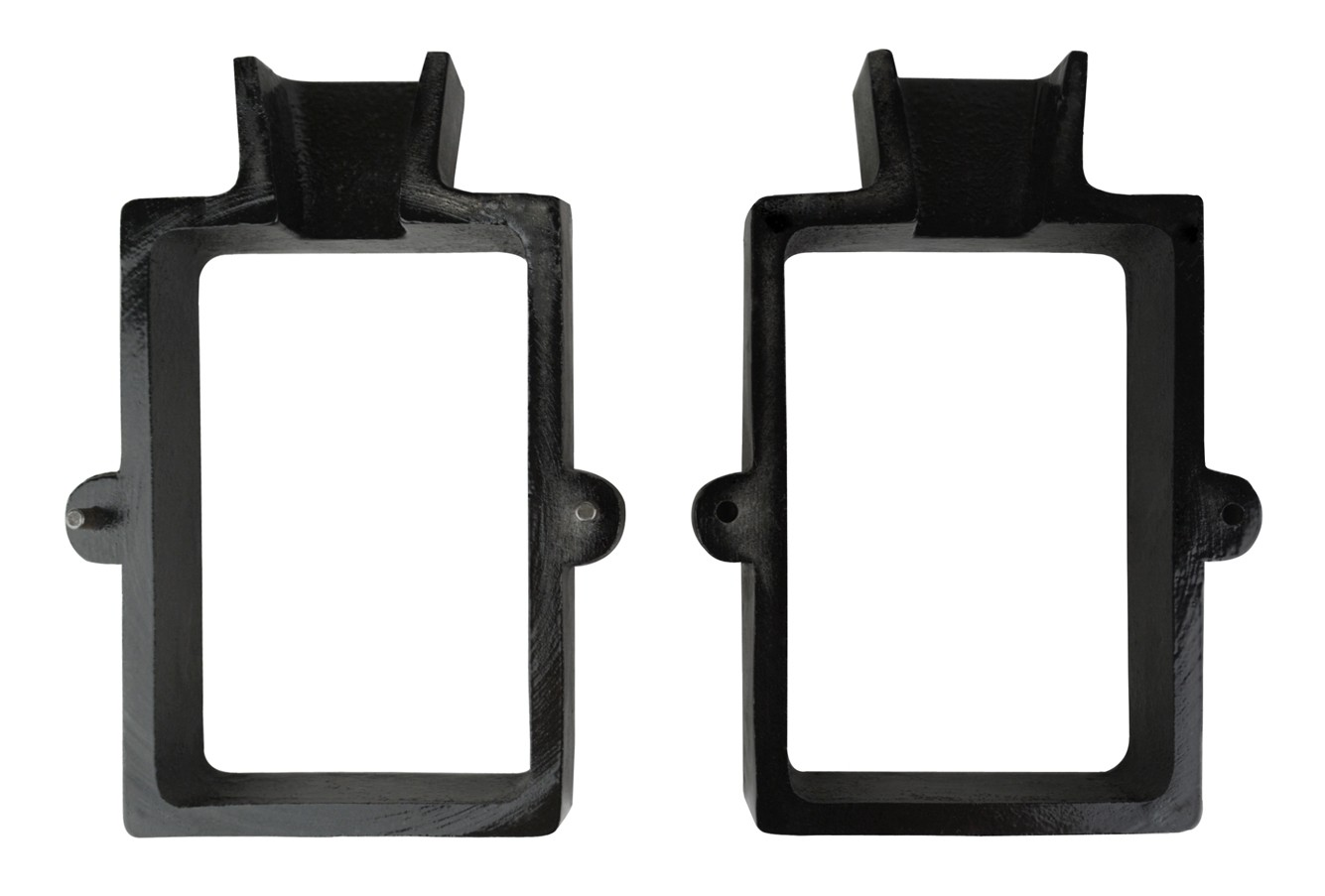 2-Piece Cast Iron Mold Flask Frame with 2 Pins