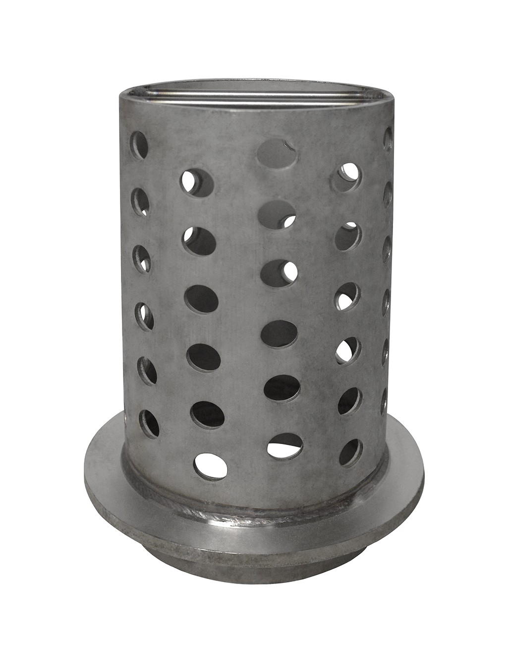 """4"""" x 9"""" Perforated Stainless Steel Flask"""