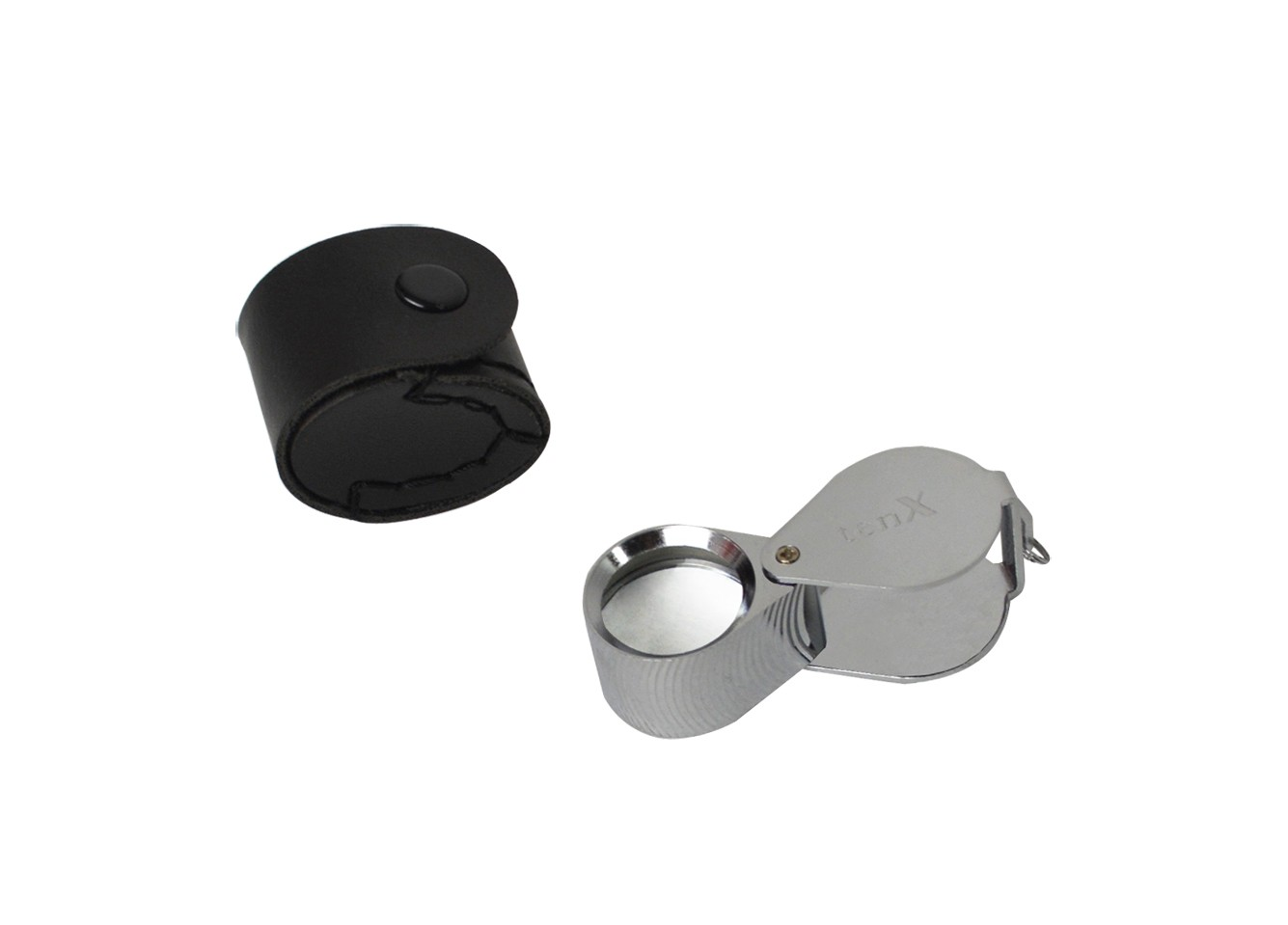 21.5 MM - 10X Diamond Cut Silver Eye Loupe