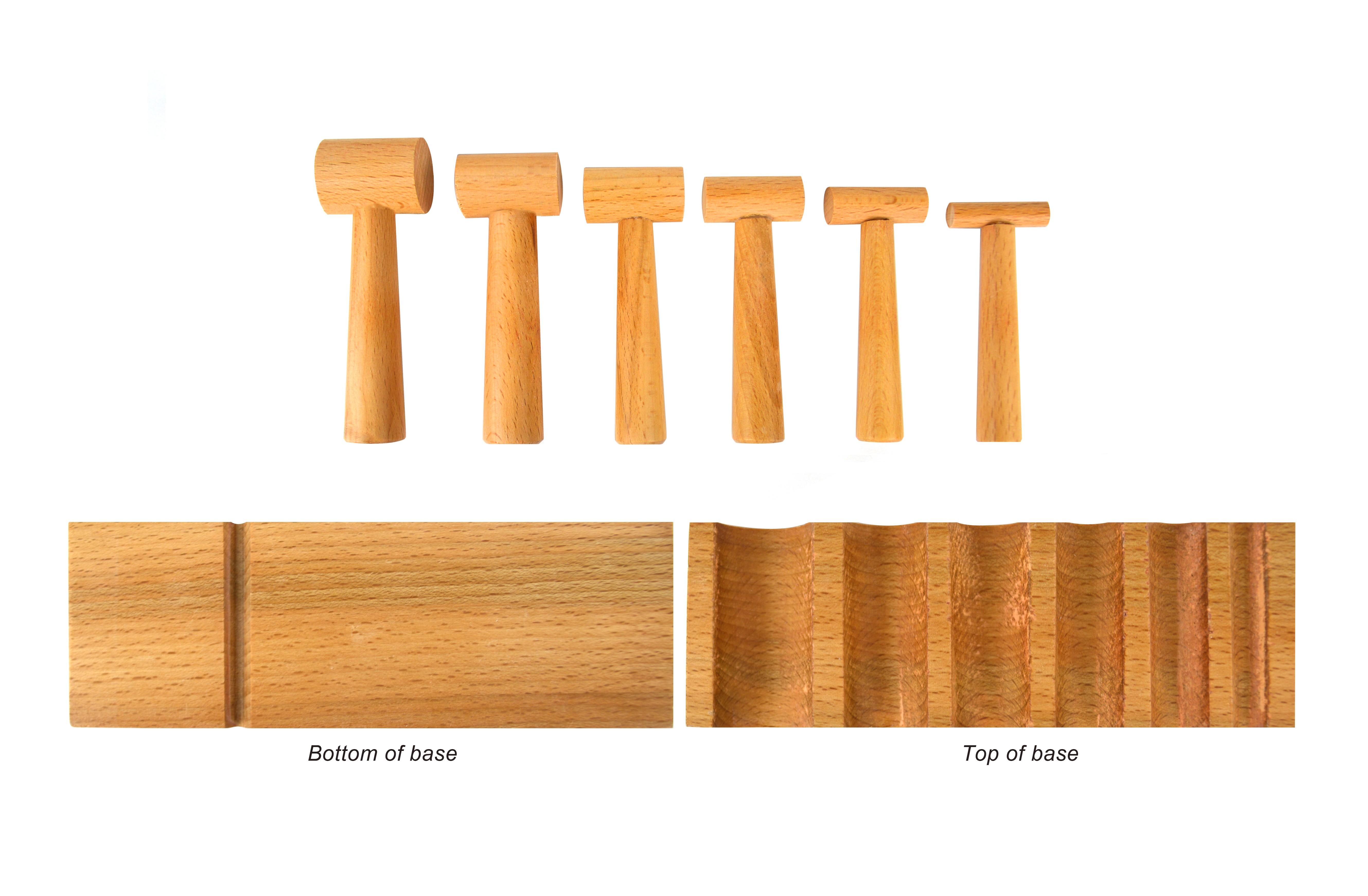 Hardwood U-Channel Forming Block w/ 6 Hammers
