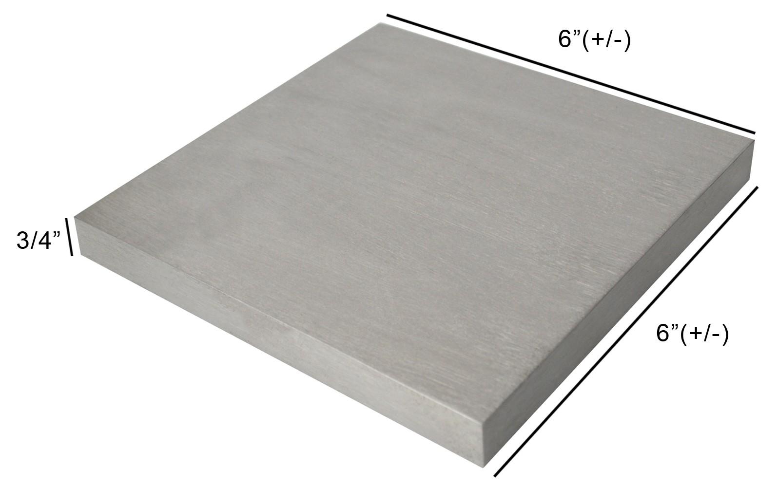 "6"" x 6"" x 3/4"" Steel Bench Block"