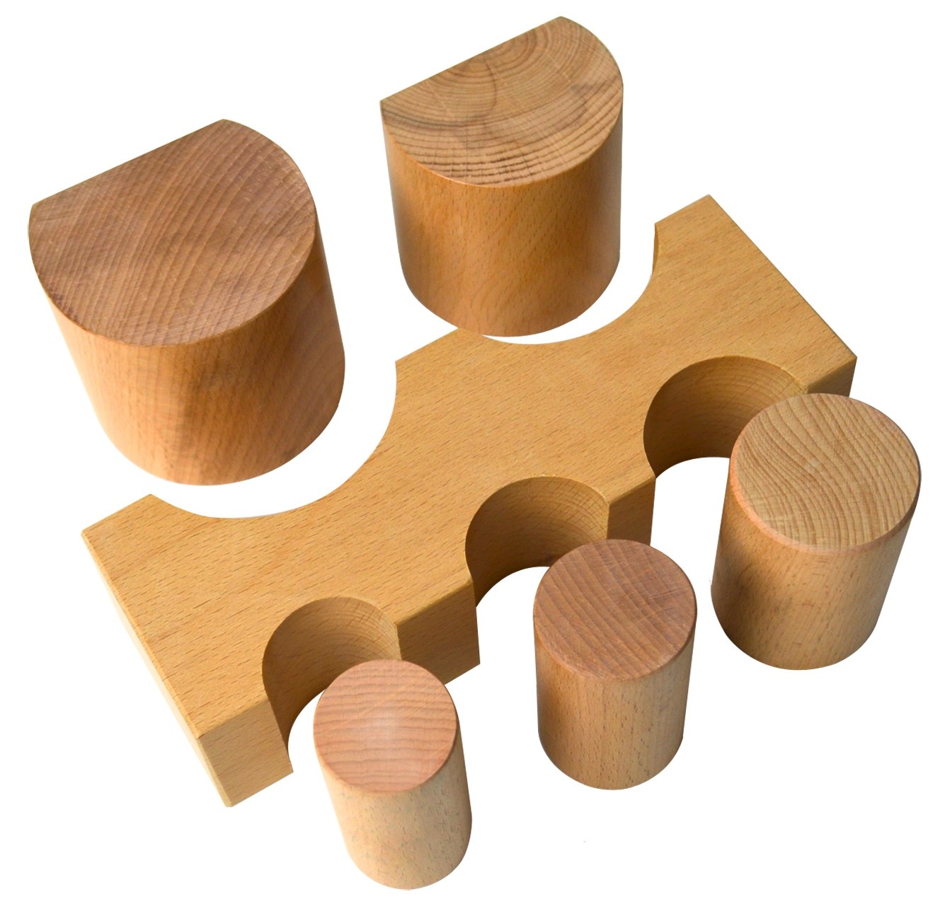 6 Piece Wooden Forming Block Dapping Set