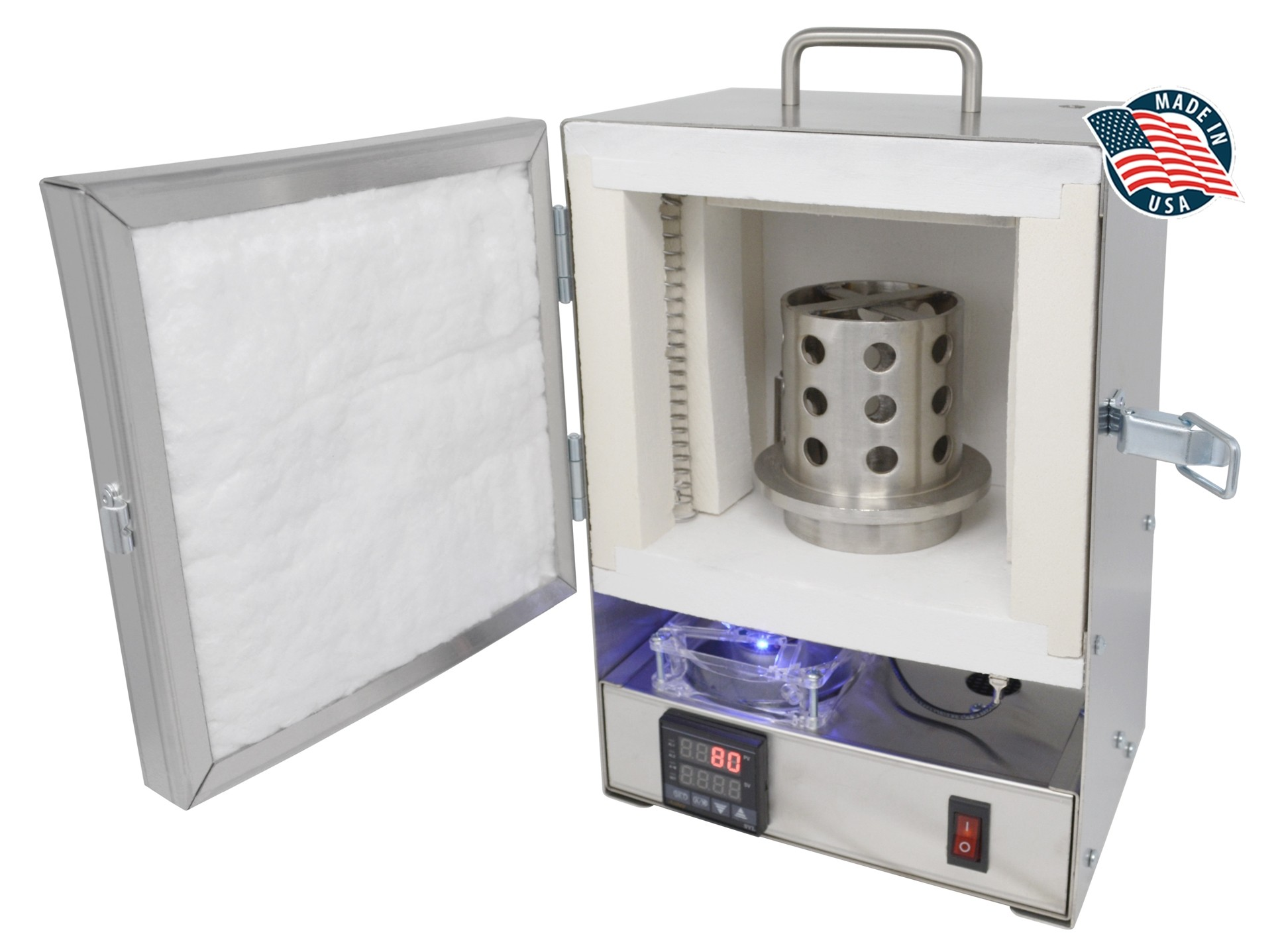 9ad0274b14902 PROGRAMMABLE TableTop Hi-Temp 2200°F Electric Burnout Oven Kiln for 3D  PLA/Resin, and Carvable Wax , FUR-0156 | PMC Supplies
