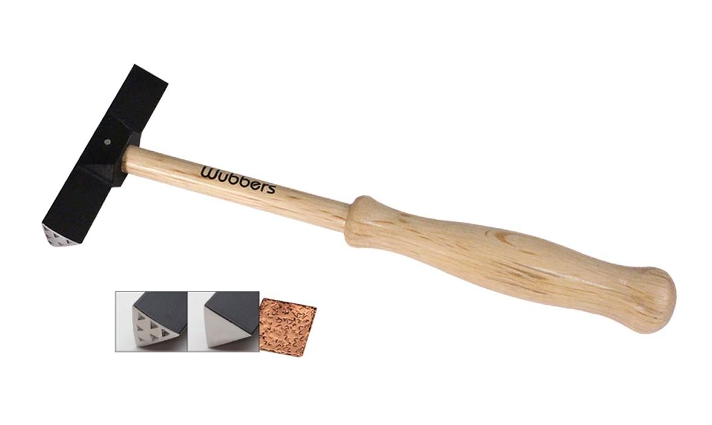 "8-1/2"" Wubbers Artisan's Mark Triangle Inner Texture Hammer"