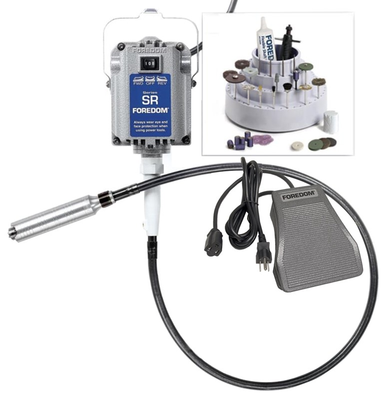 Foredom K 2830 SR Motor Flex Shaft with H 30 Handpiece Metal Foot Control &  Accessories