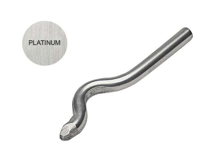 PLATINUM 1 MM Bent Stamp PUN 12610