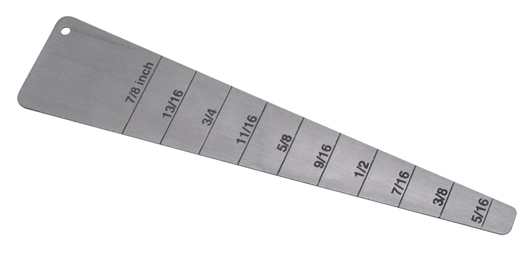 "4-3/4"" Stainless Steel Spring Bar Measuring Lug Gauge"