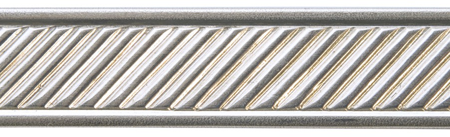 3' Nickel Silver Pattern Wire - Slanted Lines with Border 16 Gauge