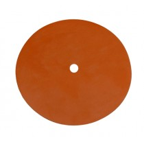 "Red Silicon Pad - 5-1/2"" Diameter, 1/2"" Hole for Vacuum Casting"