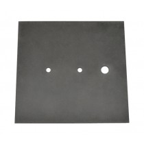 "Black Rubber Pad for Vacuum Investing, 10-1/2"" Square"