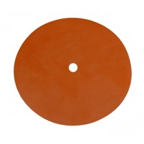 "Red Silicon Pad - 7"" Diameter, 1/2"" Hole for Vacuum Casting"