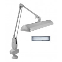 """Dazor® 3 Tube Fluorescent Light Clamp-Type Lamp - Gray, 110V with 43"""" Reach"""