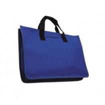 "11"" x 15"" Blue Canvas Tote Bag w/ Inside Pockets"