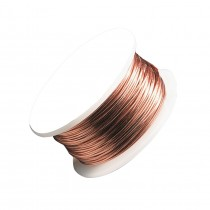 22 Gauge Bare Copper Artistic Wire Spool - 15 Yards