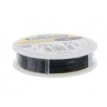 30' Black Beadalon 49 Wire - 0.15""