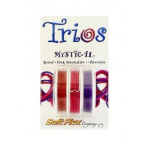 "Soft Flex Trio - Mystical: Red Spinel, Pink Tourmaline, and Amethyst 0.19"""