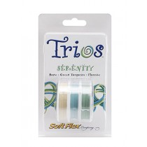 Soft Flex Trio - Serenity: Bone, Green Turquoise, and Flourite 0.19""