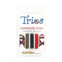 """Soft Flex Trio - Sophisticated: Antique Brass, Onyx, and Coral 0.19"""""""