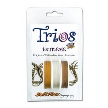 """Soft Flex Trio: Extreme: 24K Gold, 925 Sterling Silver, and Champagne 0.24"""""""