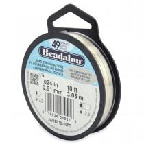 "10' .925 Sterling Silver Beadalon Wire - 0.24"""