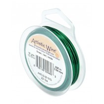 22 Gauge Green Artistic Wire Spool - 15 Yards