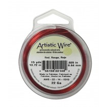 22 Gauge Red Artistic Wire Spool - 15 Yards