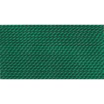 10 PACK - GREEN SILK BEAD CORD #12
