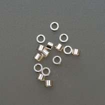 Sterling Mini Tube Crimps - 1 mm x 0.51""