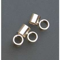 Pack of 100 Sterling Silver Tube Crimps - 3 mm x 3 mm