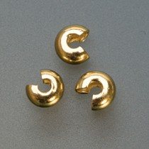 Pack of 144 Gold Plated Crimp Covers - 4 mm