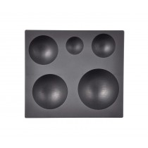 5-in-1 Sphere Marble Graphite Ingot Mold