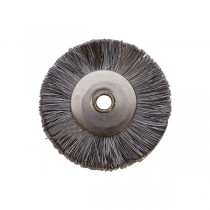 "1"" UNMOUNTED BRUSH, STEEL STRAIGHT, 1/8"" HOLE"