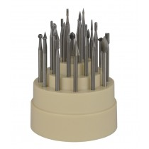 "24-Piece Assorted Bur Set with 3/32"" Shanks"