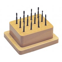 12-Piece Wax Bur Set with Wooden Stand