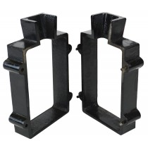 2-Piece Cast Iron Mold Flask Frame with 4 Pins