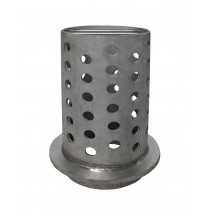 "4"" x 8"" Perforated Stainless Steel Flask"