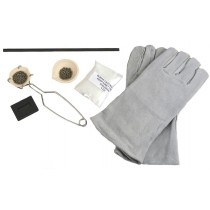 Ceramic Silica Melting Crucible Set with Whip Tongs Borax Graphite Mold Gloves and Stir Rod For Melting Gold Silver and Copper