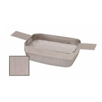 "4"" x 3"" x 1-1/2"" Small Extra-Fine Mesh Rectangular Basket"