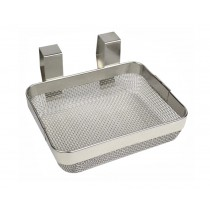 "4"" x 5"" x 1-1/2"" Ultrasonic Fine Mesh Cleaning Basket"