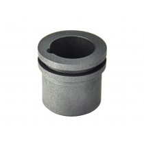 4 Oz Mini Gold R-9 Kwik Kiln Metal Casting Crucible with Groove