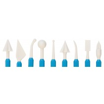Set of 9 Precious Metal Clay Carving Pro-Design Shapers