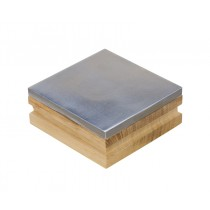 "3"" Steel Bench Block with Wooden Base"