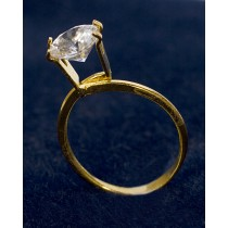 Small Display Ring - Gold Tone
