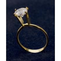 Large Display Ring - Gold Tone