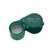 18 MM - 10X Green Malachite Triplet Eye Loupe