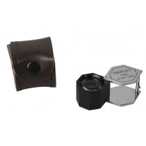 20.5 MM - 15X Chrome/Black Hexagonal Eye Loupe