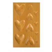 11 Cavity Heart-Shaped Hardwood Dapping Block