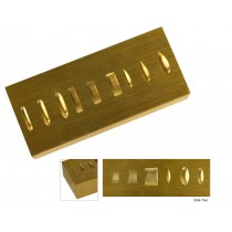 Double-Sided Brass Ring Doming and Stamping Block